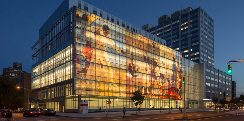 Harlem Hospital Center reconstruction with printed glass technology