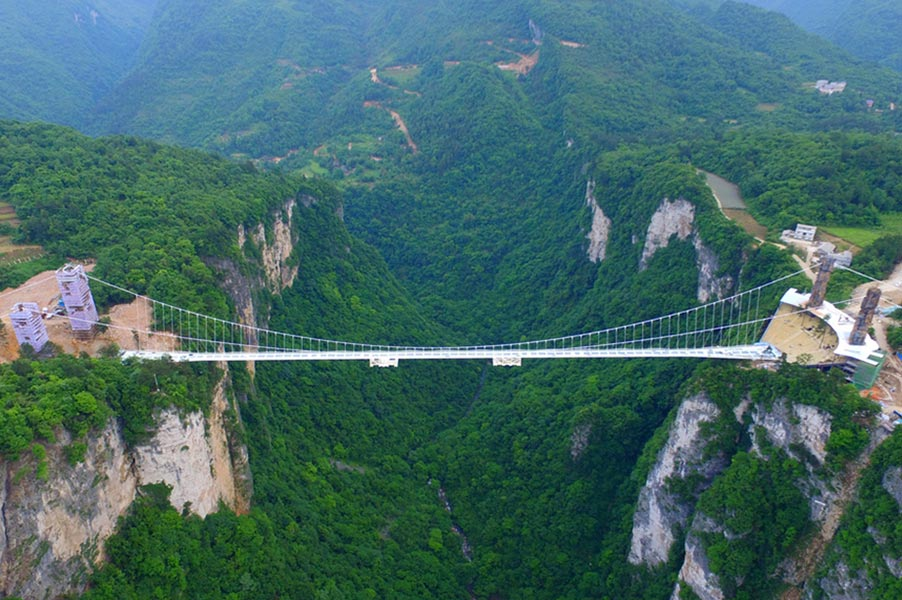 The most breathtaking and longest glass bridge in the world