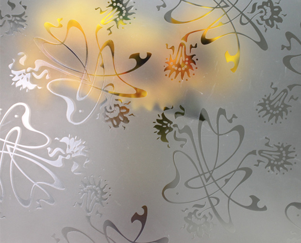 Acid etched CE Glass Industries