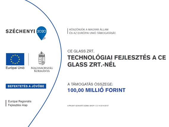 CE Glass Industries technológiai fejlesztés