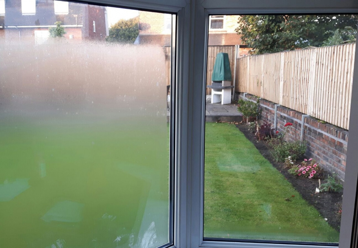 Condensation on the exterior glass CE Glass Industries