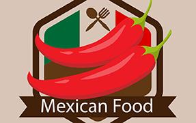 Printelt kültéri üveg cégtábla Mexican Food